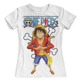 """Футболка с полной запечаткой (женская) """"One Piece"""" - one piece, ван пис, аниме, манга, луффи соломенная шляпа"""