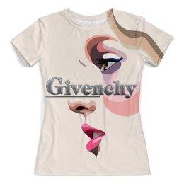 """Футболка с полной запечаткой (женская) """"Givenchy"""" - стиль, женщина, арт дизайн, откутюр, шиванши"""