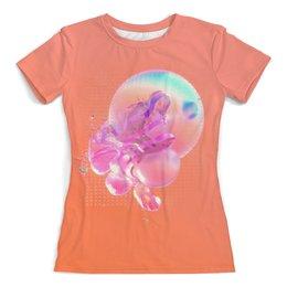 """Футболка с полной запечаткой (женская) """"Bubbles """" - 3d, антихайп, space cowboy"""
