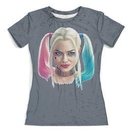 """Футболка с полной запечаткой (женская) """"Harley Quinn Design"""" - харли квинн, harley quinn, dc комиксы, отряд самоубийц, суперзлодеи"""
