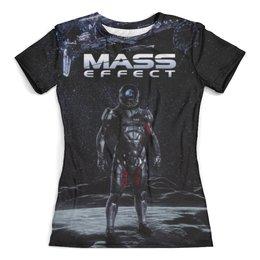 """Футболка с полной запечаткой (женская) """"Mass Effect"""" - mass effect, компьютерные игры, геймерские, масс эффект, n7"""