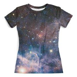 """Футболка с полной запечаткой (женская) """"space full print"""" - space, звезды, stars, космос, галактика"""