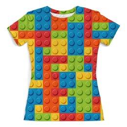 """Футболка с полной запечаткой (женская) """"Лего """" - арт, дизайн, текстура, lego, лего"""