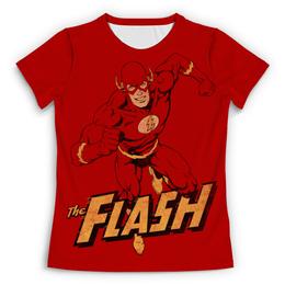 """Футболка с полной запечаткой (Женская) """"Флэш """" - flash, комиксы, супергерои, флэш"""