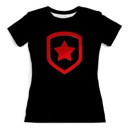 """Футболка с полной запечаткой (женская) """"Gambit"""" - игра, логотип, команда, cs go, чемпионы"""