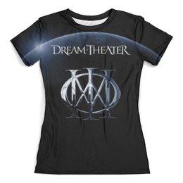 "Футболка с полной запечаткой (женская) ""Dream Theater"" - dream theater, музыка, метал, группы, heavy metal"