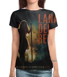 """Футболка с полной запечаткой """"Lana Del Rey The Endless Summer Tour """" - live, lana del rey, лана дель рей, endless summer tour"""