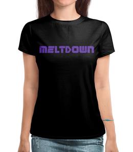"Футболка с полной запечаткой ""Meltdown Винил Маша"" - metal, moscow, винил, heavy, meltdown"