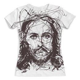 """Футболка с полной запечаткой (женская) """"Я верю в искусство"""" - арт, иисус, jesus christ, иисус христос, иисус христос суперзвезда"""