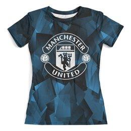 """Футболка с полной запечаткой (женская) """"Манчестер"""" - manchester united, манчестер юнайтед, спорт, игры, футбол"""