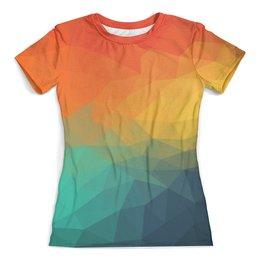 """Футболка с полной запечаткой (женская) """"Веселые цвета"""" - радуга, цвет, разноцветный, веселый, настроение"""