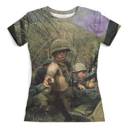 """Футболка с полной запечаткой (женская) """"Вьетнамская война"""" - арт, армия, война, смерть, оружие"""