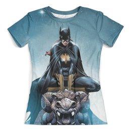 """Футболка с полной запечаткой (женская) """"Batgirl"""" - batgirl, комиксы, бэтгёрл"""