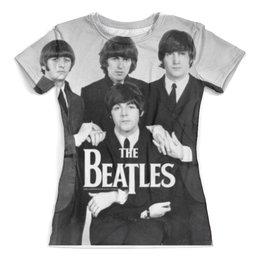 "Футболка с полной запечаткой (женская) ""Beatles "" - the beatles, revolver, let it be, abbey road"