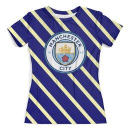 """Футболка с полной запечаткой (женская) """"Манчестер Сити"""" - спорт, игры, футбол, manchester city, манчестер сити"""