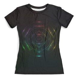 """Футболка с полной запечаткой (женская) """"Rainbow mandala"""" - арт, мандала, радуга, mandala, rainbow"""