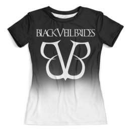 """Футболка с полной запечаткой (женская) """"Black Veil Brides"""" - black veil brides, музыка, группы, рок, метал"""