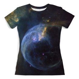 "Футболка с полной запечаткой (женская) ""The Bubble Nebula"" - звезды, космос, наука, астрономия, the spaceway"
