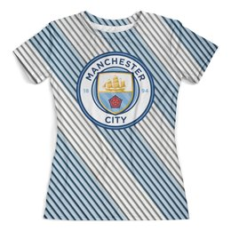 """Футболка с полной запечаткой (женская) """"Манчестер Сити"""" - manchester city, манчестер сити, спорт, игры, футбол"""
