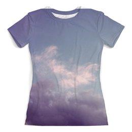 """Футболка с полной запечаткой (женская) """"Beautiful Sky"""" - красиво, sky, небо, beauty, tumblr"""