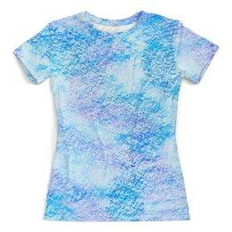 """Футболка с полной запечаткой (женская) """"Пастельные оттенки"""" - мода, fashion, blue, pastel, пастель"""