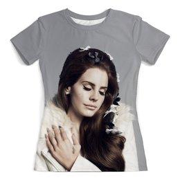 """Футболка с полной запечаткой (женская) """"Lana del rey"""" - музыка, девушка, стиль, америка, lana del rey"""