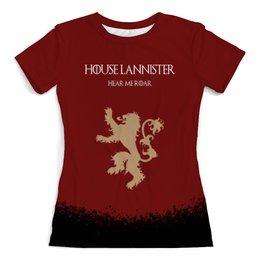 """Футболка с полной запечаткой (женская) """"House Lannister"""" - сериал, игра престолов, game of thrones, lannister, ланнистеры"""