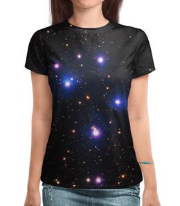 """Футболка с полной запечаткой (Женская) """"Космос (space)"""" - space, звезды, космос, вселенная, галактика"""