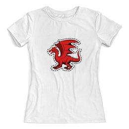 """Футболка с полной запечаткой (женская) """"дракон"""" - крылья, животные, дракон, dragon, динозавр"""