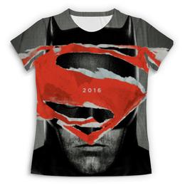 """Футболка с полной запечаткой (Женская) """"Бэтмен против Супермена"""" - супермен, бэтмен, 2016, чудо женщина, batman v superman"""