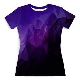 """Футболка с полной запечаткой (женская) """"Абстракция"""" - абстракция, color, треугольники, polygon, полигон"""