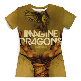 """Футболка с полной запечаткой (Женская) """"Imagine Dragons"""" - музыка, группа, рисунок, imagine dragons"""