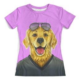 """Футболка с полной запечаткой (женская) """"Моя собака"""" - жене, собака, детям, домашние животные, собачникам"""