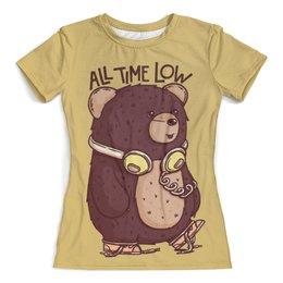 """Футболка с полной запечаткой (женская) """"Animal Art"""" - animal, bear, медведь, арт дизайн, животные"""