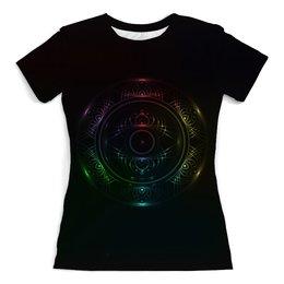"""Футболка с полной запечаткой (женская) """"Rainbow mandala"""" - арт, радуга, rainbow, мандала, mandala"""