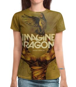 """Футболка с полной запечаткой """"Imagine Dragons"""" - музыка, группа, рисунок, imagine dragons"""