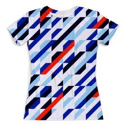 """Футболка с полной запечаткой (женская) """"Geometry Design"""" - узоры, орнамент, геометрия, линии, модникам"""