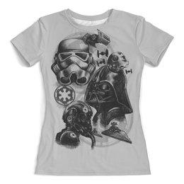 """Футболка с полной запечаткой (женская) """"Звёздные Войны"""" - star wars, звездные войны, дарт вейдер, штурмовик"""