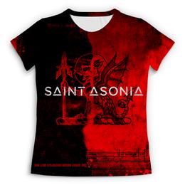 """Футболка с полной запечаткой (Женская) """"Saint Asonia """" - rock, saint, saint asonia, adam gontier, asonia"""