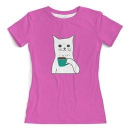 """Футболка с полной запечаткой (женская) """"Котенок"""" - кот, кошка, животные, котенок, котик"""