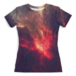 """Футболка с полной запечаткой (женская) """"Our Space"""" - space, звезды, космос, наука, thespaceway"""