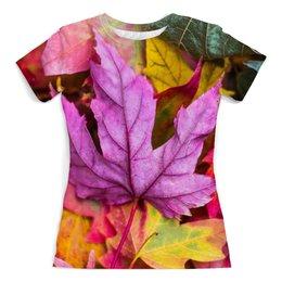 """Футболка с полной запечаткой (женская) """"Осень"""" - осень, золотая осень, краски осени, тёплая осень, что такое осень"""