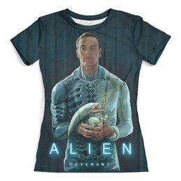 """Футболка с полной запечаткой (женская) """"ALIEN Covenant"""" - монстр, инопланетянин, фантастика, чужой, пришелец"""