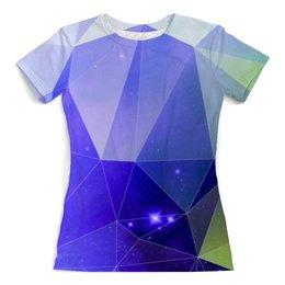 """Футболка с полной запечаткой (женская) """"Космический треугольник"""" - арт, цвета, космос, треугольник, абстракция"""