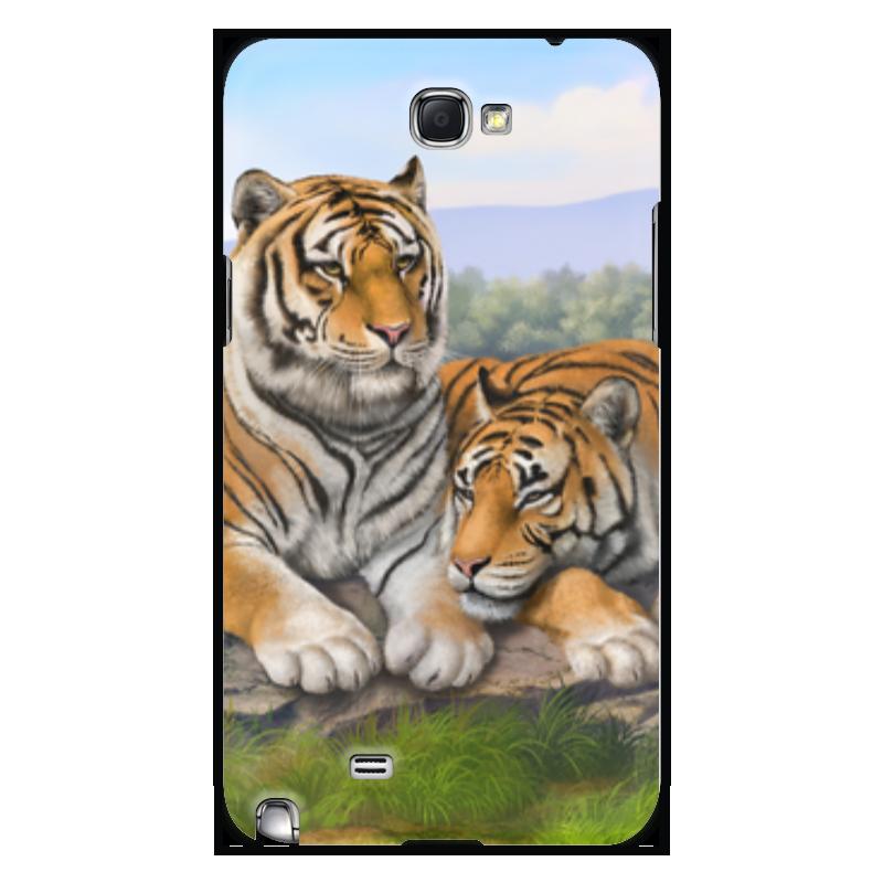 Чехол для Samsung Galaxy Note 2 Printio Тигры чехол для ноутбука 14 printio тигры