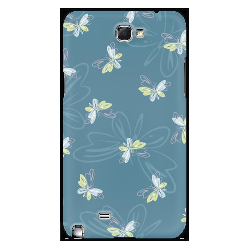 Чехол для Samsung Galaxy Note 2 Printio Бабочки чехол для карточек цветные совы на синем фоне дк2017 112
