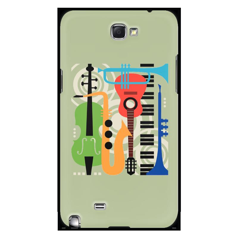 Чехол для Samsung Galaxy Note 2 Printio Музыкальные инструменты