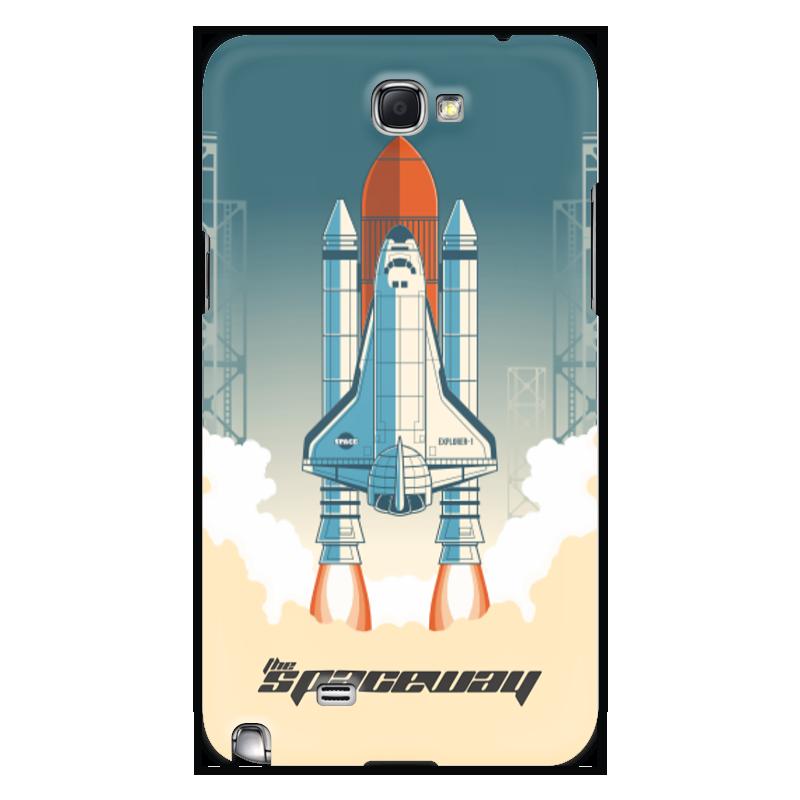 лучшая цена Чехол для Samsung Galaxy Note 2 Printio Покорение космоса