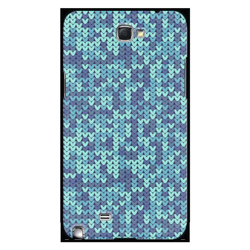 Чехол для Samsung Galaxy Note 2 Printio Голубой вязаный узор usb 2 0 bluetooth v3 0 78 key keyboard w pu case for samsung galaxy note pro 12 2 black