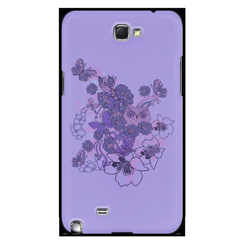 Чехол для Samsung Galaxy Note 2 Printio Сова в цветах чехол для iphone 5 printio сова в цветах